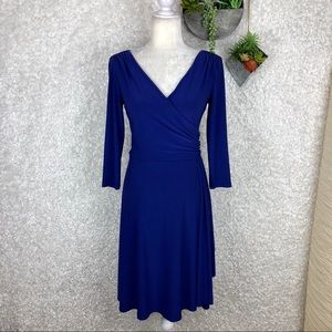 Lauren Ralph Lauren Blue Wrap Dress | 6